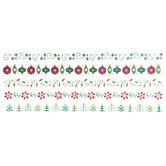 Christmas Icon Foil Border Stickers