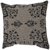 Beige & Black Jacquard Pillow