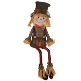 Give Thanks Plush Scarecrow Boy Shelf Sitter