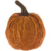 Glitter Burlap Pumpkin