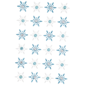 Glitter Snowflakes With Rhinestones Stickers