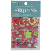 Red Round, Flat & Square Sequins