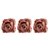 Pink Glitter Roses With Clips