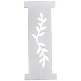 White Vine Letter Wood Wall Decor - I