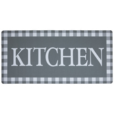 Gray Buffalo Check Kitchen Doormat