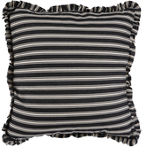 Black & White Striped Ruffle Pillow