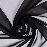 Black Poly Chiffon Fabric