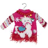 Fluffy Llama Ugly Sweater Ornament