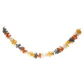 Orange, Gray & Yellow Fringe Garland