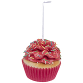 Pink Cupcake With Sprinkles Ornament