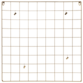 Gold Metal Wire Memo Board With Clips