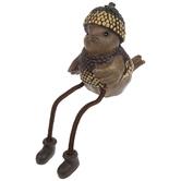 Bird Shelf Sitter With Acorn Hat