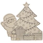 Santa & Tree Wood Craft Kit