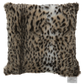 Cheetah Print Faux Fur Pillow