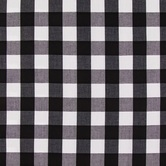 Black & White Gingham Fabric