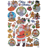 Santa & Toys Foil Stickers