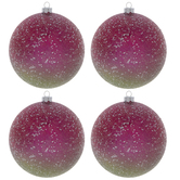 Pink Ombre Glitter Ornaments