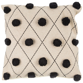 Diamond & Pom Pom Pillow Cover