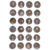 Round Traditional Christmas Icons 3D Stickers