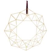 Gold Geometric Wire Metal Wreath