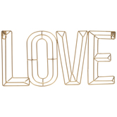 Gold Love Wire Metal Wall Decor