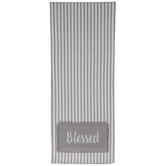 Blessed Ticking Striped Table Runner