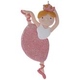 Pink Glitter Ballerina Ornament