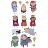 Nativity Puffy Stickers