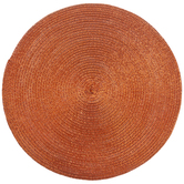 Orange Round Woven Placemats