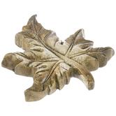 Green Carved Leaf