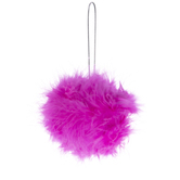 Pink Feather Ball Ornament