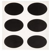 Black Oval Chalkboard Labels