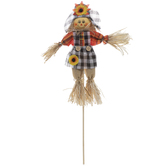 Scarecrow Pick With Gingham Hat