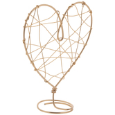 Gold Wire Heart Cake Topper