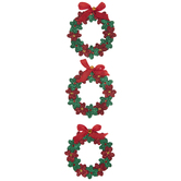 Glitter Wreath 3D Stickers