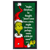 Dr Seuss The Grinch Quote Framed Wall Decor