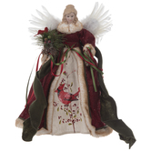 Angel With Cardinal Tree Topper