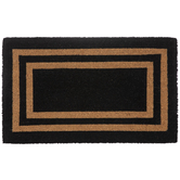 Black & Natural Block Doormat