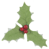 Snow Tipped Holly Embellishments