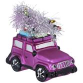 Pink Jeep & Tree Ornament