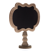 Distressed Brown Chalkboard On Stand