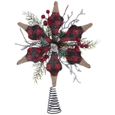 Red Buffalo Check Star Tree Topper