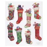 Stockings Glitter Stickers
