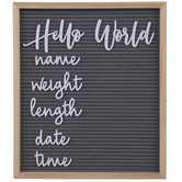 Hello World Letter Board