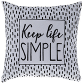 Keep Life Simple Pillow